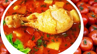 Homemade Tomato Chicken Vegetable Soup Recipe