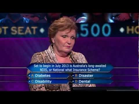 Lock It In Eddie Millionaire Hot Seats National Disability