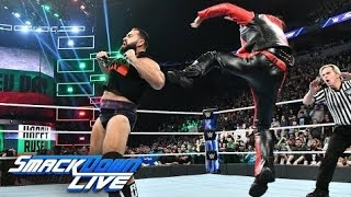 The United States Champion ruthlessly attacks Rusev before their scheduled match.