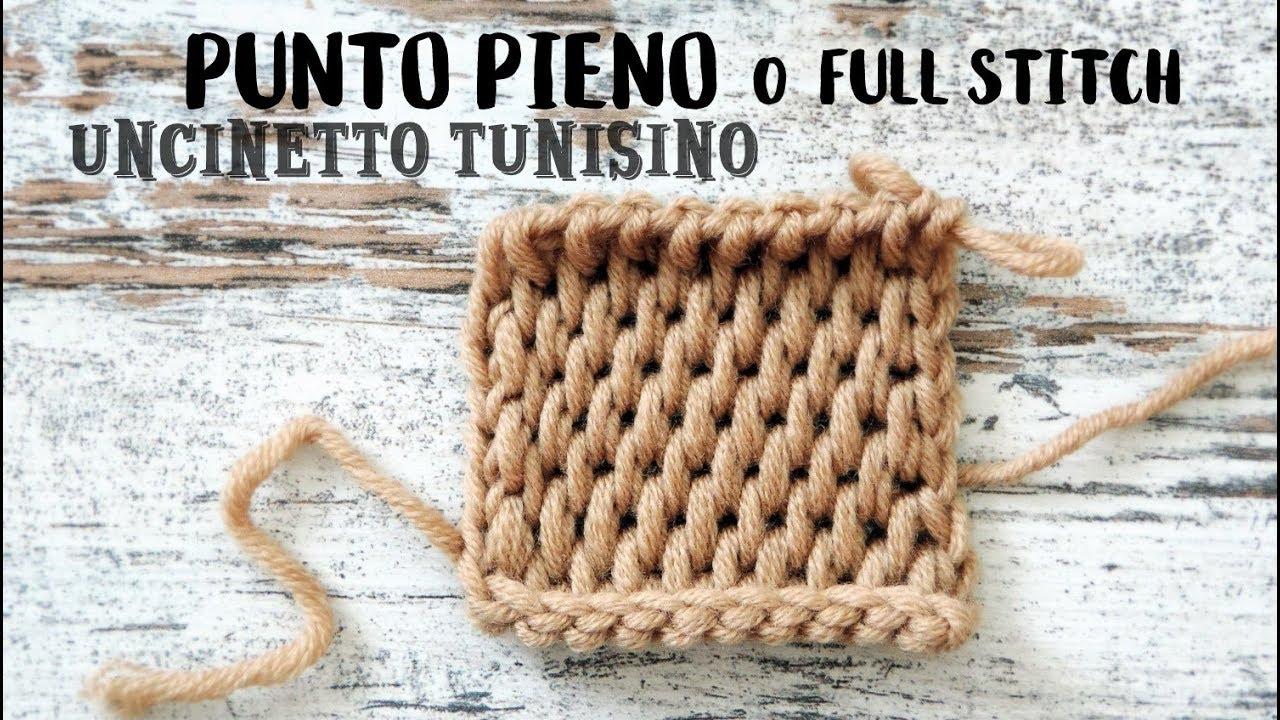 Punto Pieno Full Stitch Con Uncinetto Tunisino Youtube