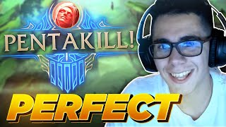 THE PERFECT GAME! (No Deaths, 370 CS, Pentakill)