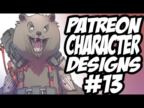 Patreon Character Designs #13 - Druid of the Moth / Wolverine Hybrid