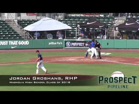 Jordan Groshans Prospect Video, RHP, Magnolia High School Class of 2018, CF