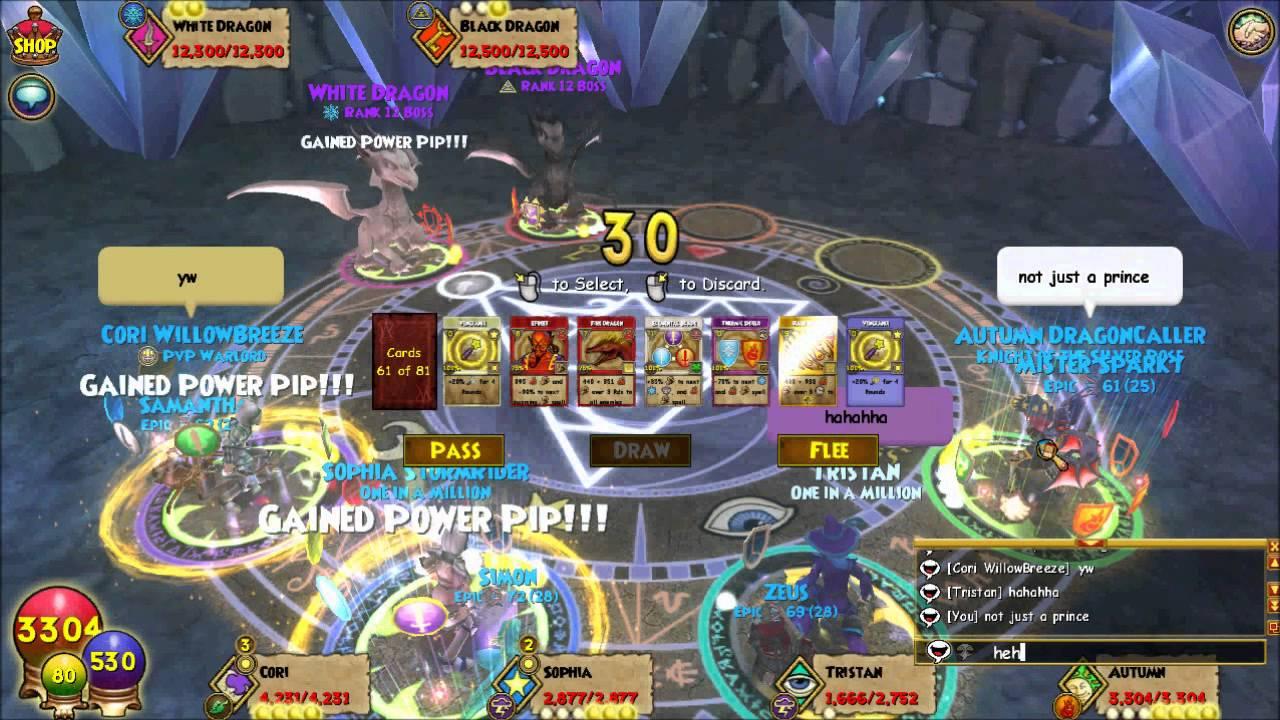 Wizard 101 Avalon Black White Dragons The Final Battlewmv Youtube