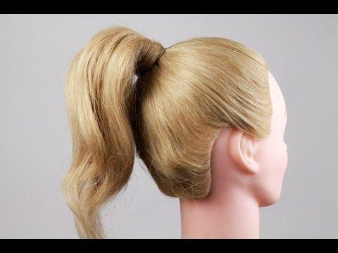 видео: Как правильно сделать хвост из волос, самый удобный способ. how to do a tail