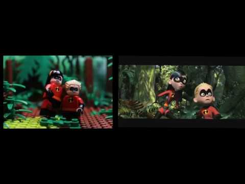 LEGO INCREDIBLES 100 MILE DASH SCENE RECREATION en streaming