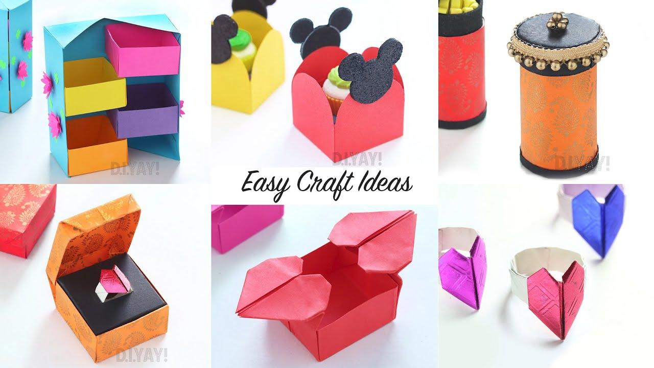 6 Easy Craft Ideas Craft Ideas 6 Easy Gift Ideas Youtube