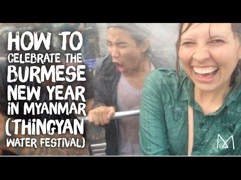 What is Thingyan Water Festival (Burmese New Year) in Yangon, Myanmar