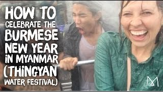 Thingyan, The Burmese New Year Water Festival - Yangon Myanmar
