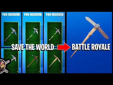 6 Free Harvesting Tools In Battle Royale From Save The World!