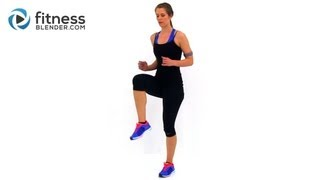 Exercises to Lose Weight - Fat Burning Cardio Workout - 37 Minute Fitness Blender Cardio Workout at Home