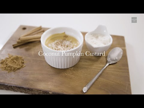 Coconut Pumpkin Custard Recipe