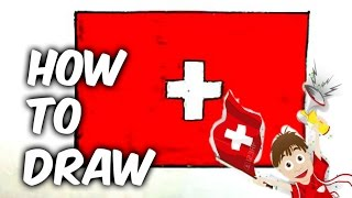 How to draw Switzerland flag(Ehedov Elnur)Flag of Switzerland