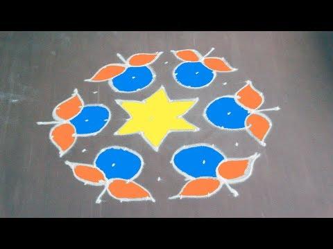 special Rangoli / kolam Design For Sankrant - YouTube