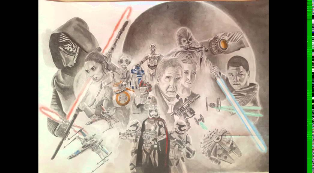 Star Wars Poster Draw with pencil YouTube