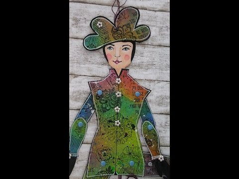 """#IC Alumni Gallery - Mixed Media Project: """"Jumping Jane"""" Part 2 /Teil 2"""