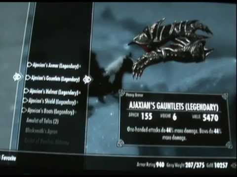 Skyrim Legendary Character (Enchantments Galore)