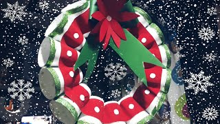 Recycled Christmas Crafts | Styro Cups Wreath