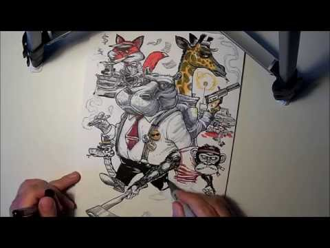 Animal Mafia - drawing timelapse thumbnail