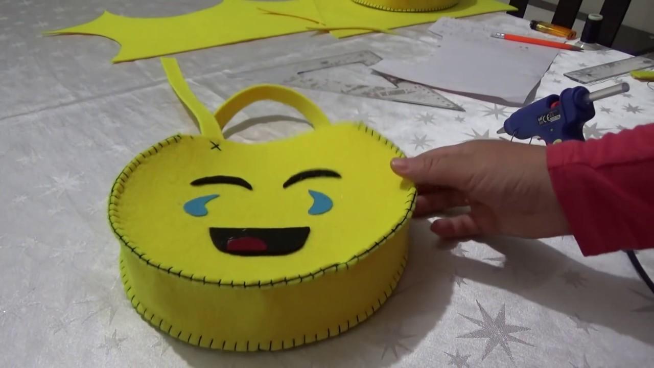 073f4d0610e3a DIY/Keçeden KOLAY Emoji Çanta YAPIMI/Kendin Yap/Emoji BAG - YouTube