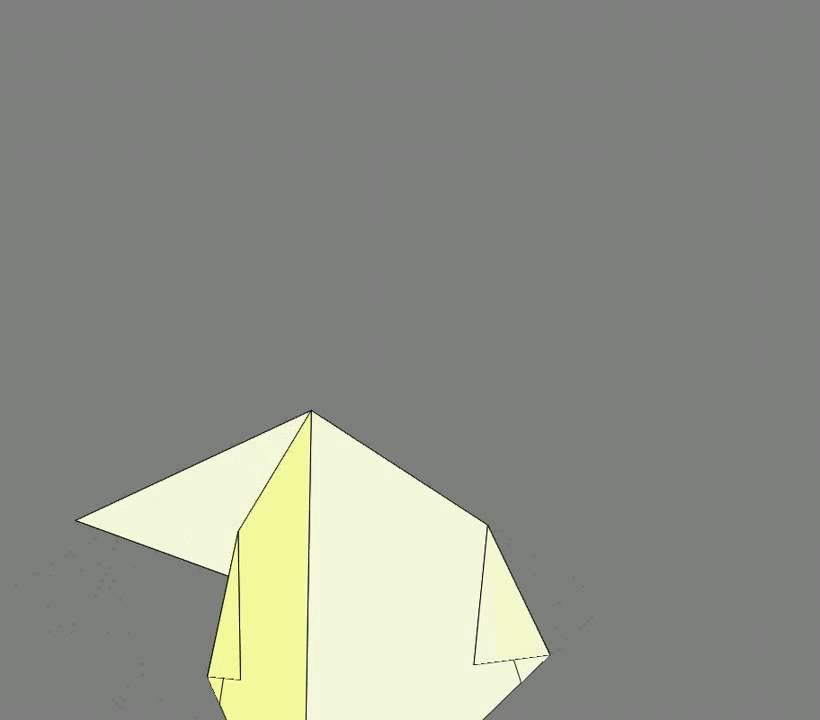 Оригами схема сборки курица 2