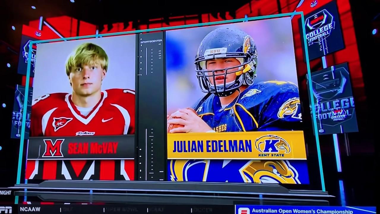 timeless design 7e685 4bb03 Sean McVay vs Julian Edelman in College