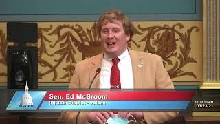 Sen. McBroom speaks in support of Senate Bill 257