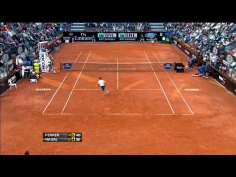 Ferrer's Hot Shot Defence Wins Rome Set Vs. Nadal