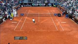 Ferrer's Hot Shot Defence Wins Rome Set Vs. Nadal