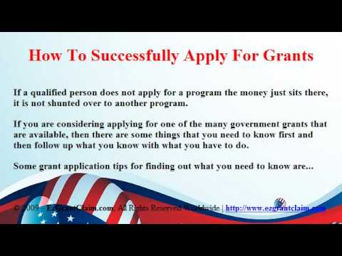 How To Successfully Apply For Government Grants - YouTube