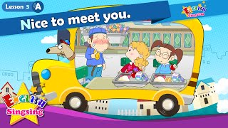 Lesson 3_(A)Nice to meet you. - Greeting - Introducing - Cartoon Story - English Education