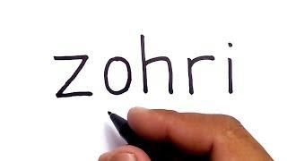 Kok Bisa ???hah??? Menggambar Lalu Muhammad Zohri Dari Kata Zohri ????