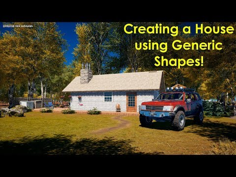 ► FAR CRY 5 Arcade   Building a House with generic shapes +Decorations [Speedmapping]