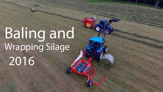 Baling and Wrapping Silage 2016 - All Blue