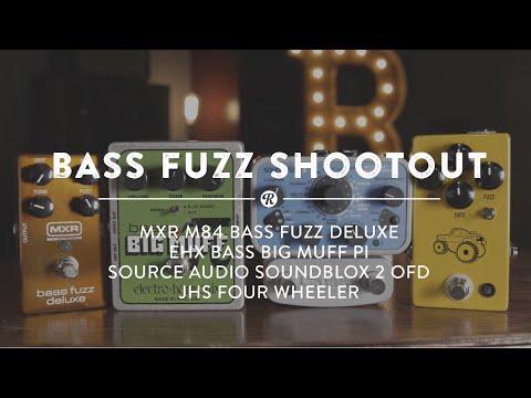 Bass Fuzz Shootout: EHX, Source Audio, JHS & MXR