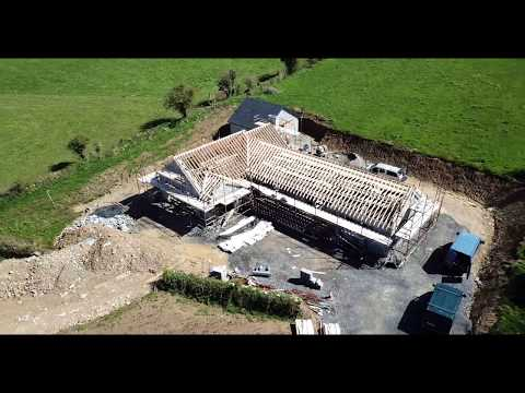 Kilmacthomas New Build - Aerial View of Cut Roof