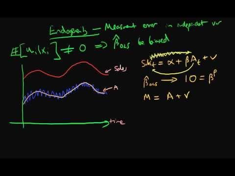 Measurement error in independent variable - part 1