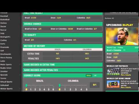 Brazil vs Columbia 04.07.14 World Cup Betting Tips