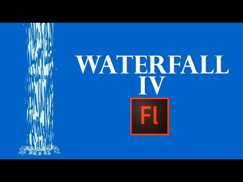 Flash Animation Tutorial- Animate  Water Fall  in Flash.