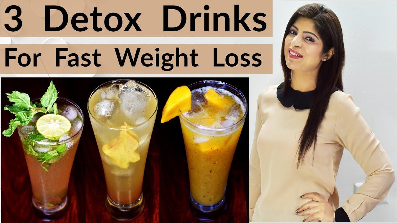 3 Detox Drinks For Fast Weight Loss | 3 Shikanji Recipe In Hindi | Lemonade Recipe | Dr.Shikha Singh