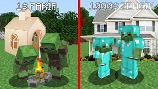 1$ FAKİR HAYAT VS 1000$ ZENGİN HAYAT 😱 - Minecraft