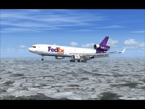 PMDG MD-11F FedEX Express Flight from LUX to MUC [Full HD]