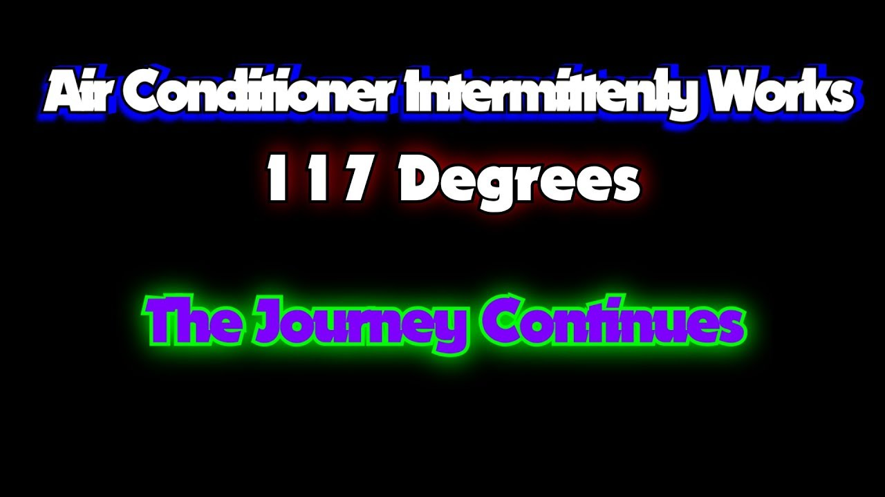 Air Conditioner Intermittently Works - YouTube