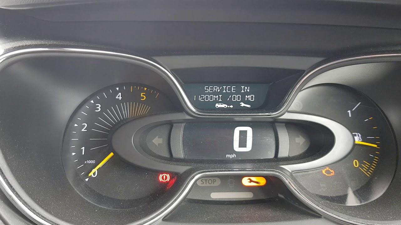 Renault Captur Service Reset Youtube