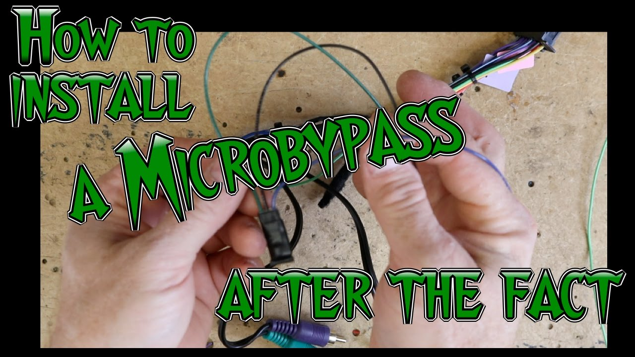 small resolution of how to install a microbypass if your harness is all ready installed