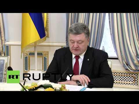 Ukraine: Kerry and Poroshenko hold talks ahead of US aid boost