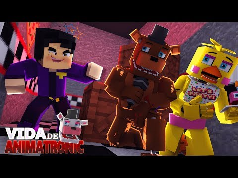 Minecraft: VIDA DE ANIMATRONIC #07 - O MISTERIOSO HOMEM DE ROXO ( FIVE NIGHTS AT FREDDY'S )