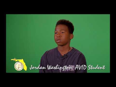 Jordan Washington- Roulhac Middle School AVID Program Promo Clip 12-19-18