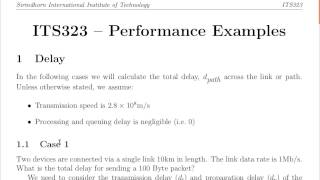 ITS323, Lecture 05, IT, 25 Jun 2013 - Transmission and Propagation Delay