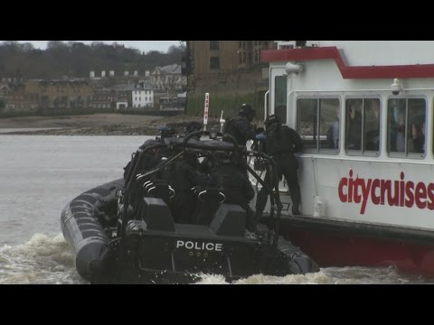 'Terrorists' hijack tourist boat in London terror drill